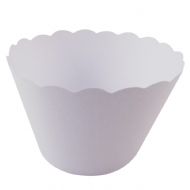 White Cupcake Wrappers x 50 Per Pack